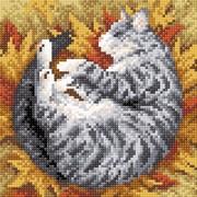 """Набор для выкладывания мозаики Brilliart (от МП Студии) """"Полосатая осень"""""""