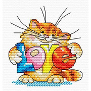 """Набор для вышивания крестом Жар-птица (от МП-Студии) """"Подарю тебе любовь"""""""