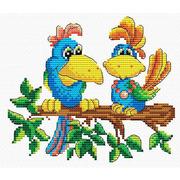 """Набор для вышивания крестом Жар-птица (от МП-Студии) """"Краски джунглей"""""""