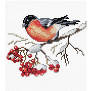"""Набор для вышивания крестом Жар-птица (от МП-Студии) """"На заснеженной ветке"""""""