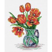 """Набор для вышивания крестом Жар-птица (от МП-Студии) """"Весенние тюльпаны"""""""