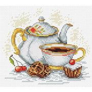 """Набор для вышивания крестом Жар-птица (от МП-Студии) """"Утренний чай"""""""
