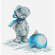 """Набор для вышивания крестом Жар-птица (от МП-Студии) """"Новогодний шар"""""""