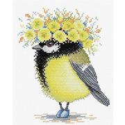"""Набор для вышивания крестом Жар-птица (от МП-Студии) """"Солнечная пташки"""""""