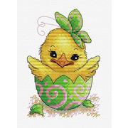 """Набор для вышивания крестом Жар-птица (от МП-Студии) """"Пасхальный цыпленок"""""""