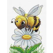 """Набор для вышивания крестом Жар-птица (от МП-Студии) """"Трудовая пчелка"""""""