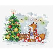 """Набор для вышивания крестом Жар-птица (от МП-Студии) """"Свет новогоднего тепла"""""""