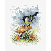 """Набор для вышивания крестом Жар-птица (от МП-Студии) """"На грибной опушке"""""""