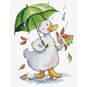 """Набор для вышивания крестом Жар-птица (от МП-Студии) """"Дождливый променад"""""""