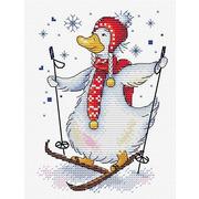 """Набор для вышивания крестом Жар-птица (от МП-Студии) """"На лыжне"""""""