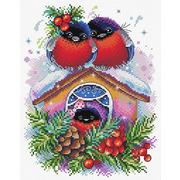 """Набор для вышивания крестом Жар-птица (от МП-Студии) """"Зимний домик"""""""