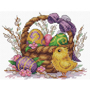 """Набор для вышивания крестом Жар-птица (от МП-Студии) """"Праздничное лукошко"""""""
