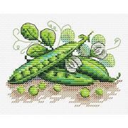 """Набор для вышивания крестом Жар-птица (от МП-Студии) """"Зеленый горошек"""""""