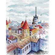"Набор для вышивания крестом Жар-птица (от МП-Студии) ""Башни Таллина"""