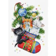 """Набор для вышивания крестом Жар-птица (от МП-Студии) """"Новогодний подарок"""""""