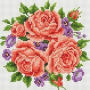 """Набор для выкладывания мозаики Белоснежка """"Розы и фиалки"""""""