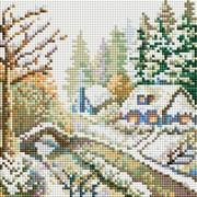 """Набор для выкладывания мозаики Белоснежка """"Зима"""""""