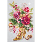 """Набор для вышивания крестом Чудесная игла """"Рождественский сюрприз"""""""