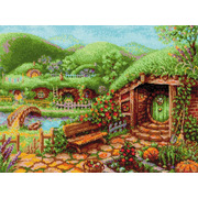 """Набор для вышивания крестом Риолис """"Зеленые холмы"""""""