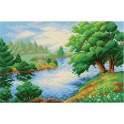 "Канва/ткань с нанесенным рисунком М.П. Студия ""Дерево у реки"""