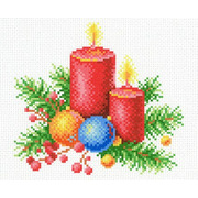 """Канва с нанесенным рисунком М.П. Студия """"Новогоднее тепло"""""""