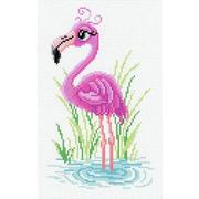 """Канва с нанесенным рисунком М.П. Студия """"Мечтательный фламинго"""""""