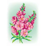 """Канва/ткань с нанесенным рисунком М.П. Студия """"Розовый шарм"""""""