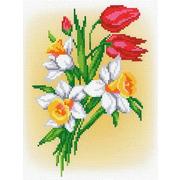 """Канва/ткань с нанесенным рисунком М.П. Студия """"Весенний букет"""""""