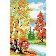 """Канва с нанесенным рисунком М.П. Студия """"Осенний лес"""""""