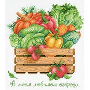 """Канва/ткань с нанесенным рисунком М.П. Студия """"В моем любимом огороде"""""""