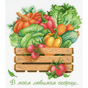 """Канва с нанесенным рисунком М.П. Студия """"В моем любимом огороде"""""""