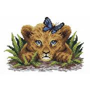 """Канва/ткань с нанесенным рисунком М.П. Студия """"Львенок в траве"""""""