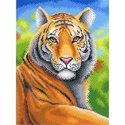"""Канва с нанесенным рисунком М.П. Студия """"Царственный тигр"""""""