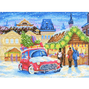"""Канва/ткань с нанесенным рисунком М.П. Студия """"Рождественская ярмарка"""""""