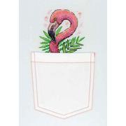 """Набор для вышивания крестом Жар-птица (от МП-Студии) """"Розовый фламинго"""""""