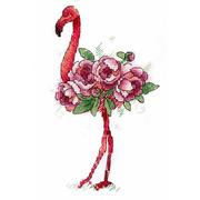"""Набор для вышивания крестом Жар-птица (от МП-Студии) """"Фламинго"""""""