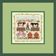 """Набор для вышивания крестом Le Bonheur Des Dames """"Август - деревня"""""""