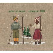 """Набор для вышивания крестом Le Bonheur Des Dames """"Два лыжника"""""""