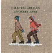 """Набор для вышивания крестом Le Bonheur Des Dames """"Два фигуриста"""""""