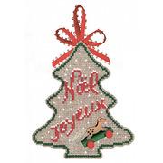 """Набор для вышивания крестом Le Bonheur Des Dames Ёлка """"С Рождеством"""""""