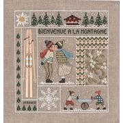 """Набор для вышивания крестом Le Bonheur Des Dames """"Добро пожаловать Январь"""""""