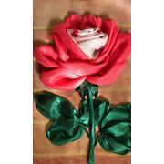 """Набор для вышивания лентами Каролинка """"Бело-розовая роза"""""""