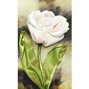 """Набор для вышивания лентами Каролинка """"Белый тюльпан"""""""