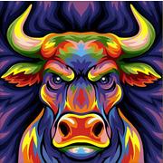 """Набор для выкладывания мозаики Алмазная живопись """"Цветной бык"""""""