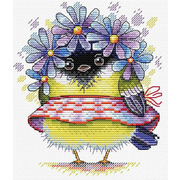 """Набор для вышивания крестом Жар-птица (от МП-Студии) """"Романтичная птичка"""""""