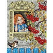 """Набор для вышивания крестом Жар-птица (от МП-Студии) """"Осенняя пора"""""""