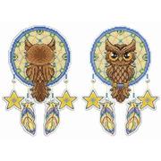 """Набор для вышивания крестом Жар-птица (от МП-Студии) """"Ловец снов. Сова"""""""