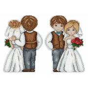"""Набор для вышивания крестом Жар-птица (от МП-Студии) """"Жених и невеста"""""""