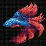 """Набор для выкладывания мозаики Brilliart (от МП Студии) """"Рыбка красная"""""""