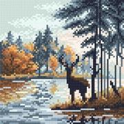 """Набор для выкладывания мозаики Brilliart (от МП Студии) """"Олень в лесу"""""""